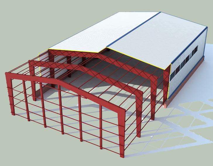 Проектирование конструкций целого здания/помещения и его частей